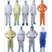 Buy cheap Support Customized Logo  Disposable Protective Coverall Tear Resistant Size S - 3XL from wholesalers