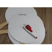 Buy cheap Creative White hard paper Japanese wood Hand Fan Folk Art Style With Erasable from wholesalers