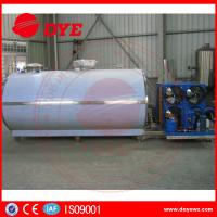 Buy cheap Cooling Bulk Liquid Pasteurized Milk Cooling Tank 1000L - 30000L With Cooling System from wholesalers