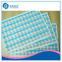 Buy cheap Anti-Fake A4 Self Adhesive Labels , Silk Screen / Offset Printing Stickers from wholesalers