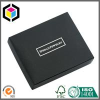 Buy cheap Silver Foil Print Logo Matte Black Chipboard Paper Gift Jewelry Box from wholesalers
