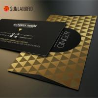 Buy cheap China Manufacturer Embossed Number Hard Plastic Black Metal Golden Business Cards for sales from wholesalers