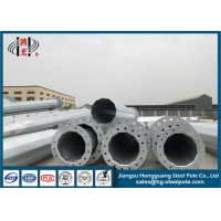 Buy cheap Conical Galvanized Steel 16m Power Transmission Poles from wholesalers