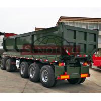 Buy cheap 40 Ton Load Semi Dump Trailers 25 Cbm Effective Volume 12.00R20 Tyre from wholesalers