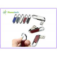 Buy cheap High Speed Leather USB Flash Disk 64gb / USB 2.0 Pen Drive 4gb With FCC RoHS Standard product