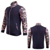 Buy cheap Men's outdoor sport track suit gym wear compression running jacket apparel factory from wholesalers