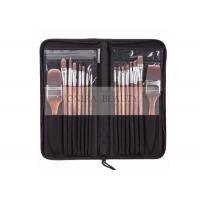 Buy cheap Nylon Hair Wooden Handle Body Paint Brushes16pcs Set High Quality Painting Brushes Set from wholesalers