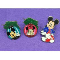 Buy cheap Cute Mouse Hard Novelty Lapel Pins Custom / Color In Nickel Plating from wholesalers