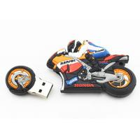 Buy cheap PVC Custom USB Flash Drives Cool Motorcycle Style Real 16GB Capacity USB Memory Sticks from wholesalers
