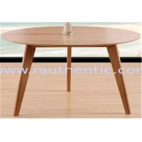 Buy cheap Classic Round Wood Dining Room Tables , Small Round Breakfast Table For Kitchen from wholesalers
