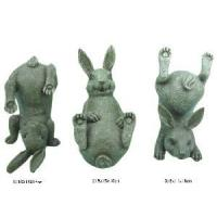 China Set of 3 Home Decoration Polyresin Rabbit Figurine (1102001) on sale
