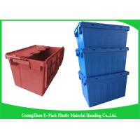 Buy cheap Warehouse Nestable Plastic Tote Boxes / stackable bins with hinged lids from wholesalers