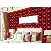 Buy cheap 3D Effect Modern Removable wallpaper popular For House Wall , square modern design wallpaper from wholesalers