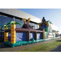 Buy cheap Extreme Fun Inflatable Obstacle Course , 0.55mm PVC Obstacle Course Bouncer from wholesalers