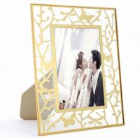 Buy cheap Beautiful Brass And Glass Picture Frame For Living Room Bedroom from wholesalers