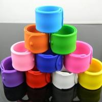 Buy cheap Printed color silicone bracelets slap wristband for children from wholesalers