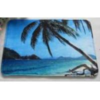 Buy cheap Blue Anti slip water absorbing floor mats for Kitchen / living room , Coconut Tree Pattern from wholesalers