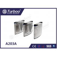 Buy cheap Acrylic Access Control Turnstile Gate , Flap Barrier Gate With Biometric Card Reader from wholesalers