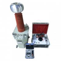 Buy cheap Oil Immersed Test Transformer 100kV AC DC Hipot Tester for Cable Withstand Voltage Testing from wholesalers