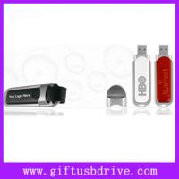 Buy cheap OEM leather usb flash drive with customized silk-screen logo full 4G/8G flash drive usb from wholesalers