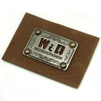 Buy cheap Faux Personalized Leather Luggage Tags Metal Logo Multi Purpose For Hats from wholesalers