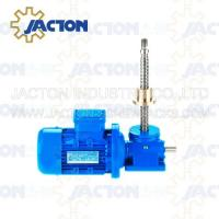 Buy cheap 15T Machine Screw Jack Lifting Screw Diameter 58MM Lead 12MM Gear Ratio 8:1 and 24:1 from wholesalers