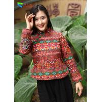 Buy cheap Cotton Padded Chinese Embroidered Blouses from wholesalers