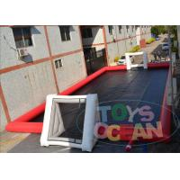 Buy cheap Commercial Inflatable Sports Arena Soccer Field For Football Game Playing 20m X 10M from wholesalers