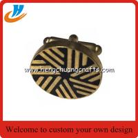 Buy cheap Custom fashional design stainless steel or brass cufflinks for men's T-shirt from wholesalers