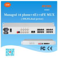 Buy cheap Managed 16 Phone SNMP 4E1 4FE SM SX (FXS/FXO) POTS Fiber Optic Multiplexer from wholesalers