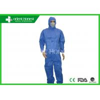 Buy cheap Factory Uniform Disposable Protective Coverall / Blue Disposable Chemical Suit from wholesalers