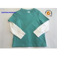 Buy cheap 2 - 12 Size Plain Baby Clothes 100% Cotton Jersey Long Sleeve Layering Tee from wholesalers