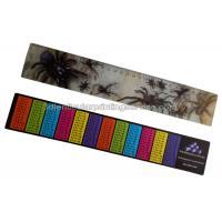 PET / PP Printing Customised 3d Lenticular Ruler For Student Flip Effect