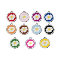 Buy cheap Metal Enamel Color Cute Pet Tags Promotional Gift Flower Bone Heart Skull Designs from wholesalers