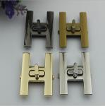Buy cheap Novelty design H letters zinc alloy metal gold handbag turn locks from wholesalers
