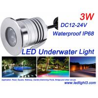 Buy cheap 3W CREE XBD Led Underwater Light IP68 Waterproof DC12-24V Swimming Pool Fountain Landscaping lighting from wholesalers