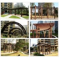 Buy cheap pergola canopy kits review WPC(Wood plastic composites)material from wholesalers