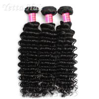 Buy cheap Deep Wave Cambodian Grade 6A Virgin Hair  Natural Black  No Terrible Smell product