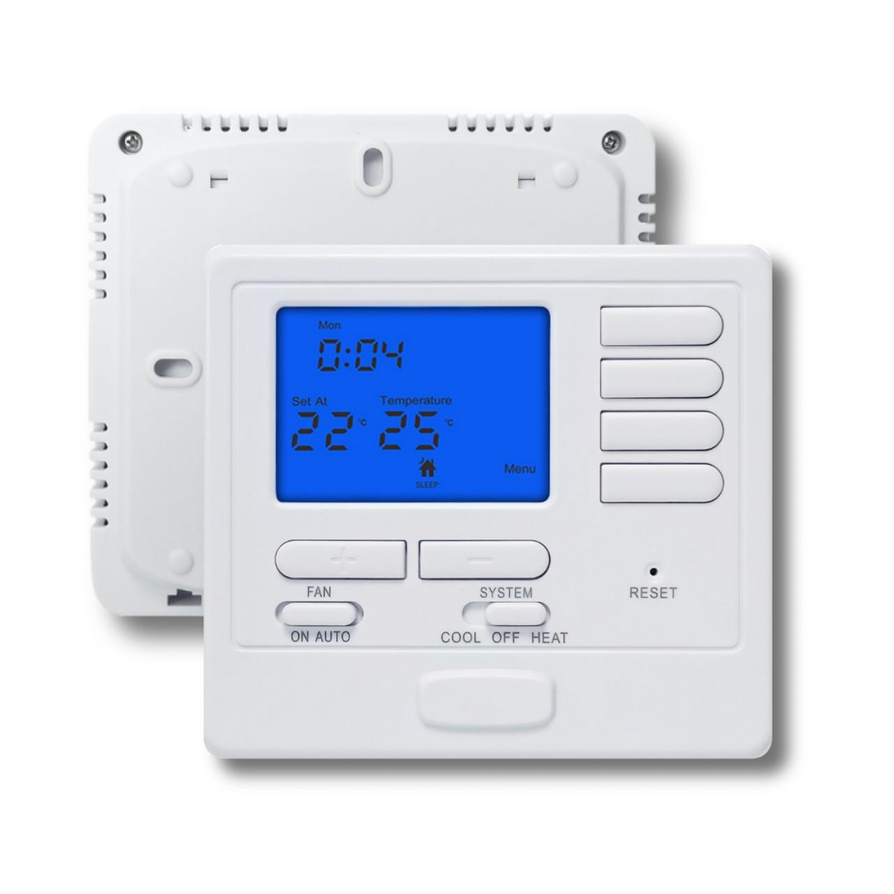 Buy cheap Orange Backlight Multi Stage HVAC Thermostat For Boiler / Air Conditioner from wholesalers