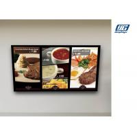 Buy cheap Wall Mounted Digital Advertising Display Screens High Resolution Menu Board product