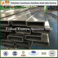 Buy cheap JIS G3446 304 304L 316L stainless steel rectangular tube for structural frame from wholesalers