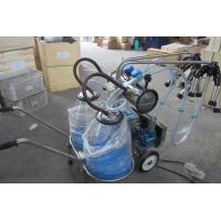 Buy cheap Double Bucket Mobile Milking Machine for Cow (Vacuum Pump-Type) from wholesalers