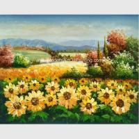 Buy cheap Custom Palette Knife Sunflowers Oil Painting, Decorative Hand Painted Art on Canvas from wholesalers