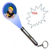 Buy cheap super bright Custom print logo Flashlight Led Projector Keychain For Promotion Gift from wholesalers
