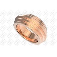 Buy cheap 14K Rose Gold Wedding Rings Jewelry OEM / ODM Fashion Design from wholesalers