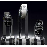 Buy cheap helsinki tower deluxe crystal award/2d laser tower crystal award/3d crystal hexagon award from wholesalers