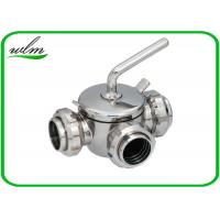 Buy cheap 10 Bar Hygienic Valves Straight Way Three Way Plug Valve With Rapid Assembly from wholesalers