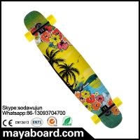 Quality Losenka MS402 canadian wooden maple and bamboo surface longboards with transparent grip tape for sale