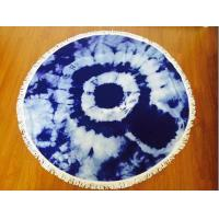 Buy cheap Custom Print Round Turkish Beach Towels Kids Beach Blanket Roundies Mandala Beach Throw Yoga Mat Table Cover Picnic from wholesalers