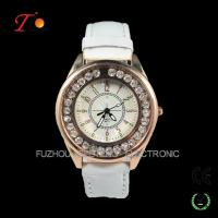 Buy cheap New latest  fancy stone watches fashion design and colorful leather band  for ladies from wholesalers